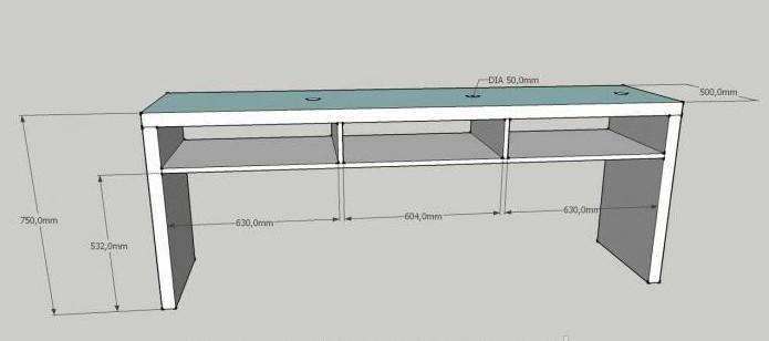 размеры маникюрного стола стандарт