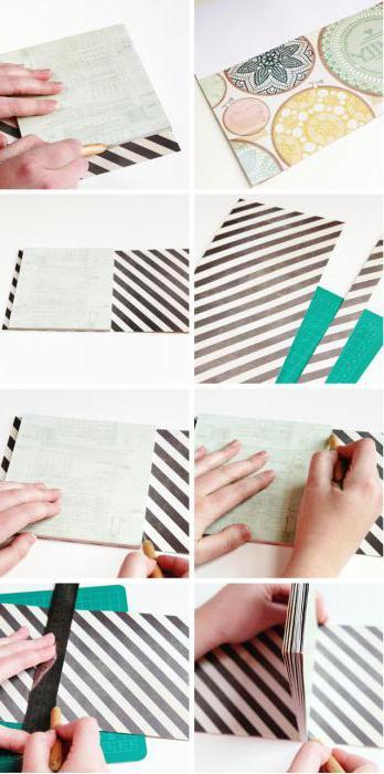 как украсить обложку блокнота своими руками