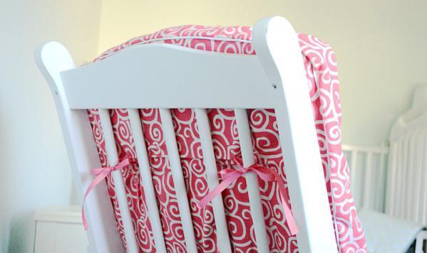 Накидка на стул из лоскутков