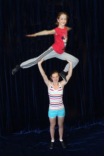обучение акробатическим упражнениям
