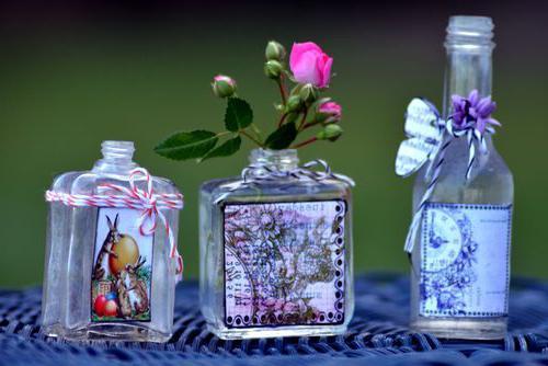 витражная роспись бутылки