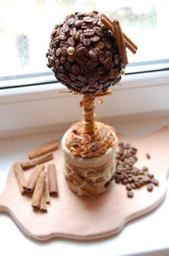 кофейная чашка из кофейных зерен
