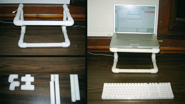 plastic pipe stand