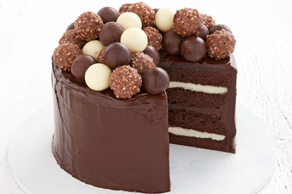 декорирование шоколадными конфетами