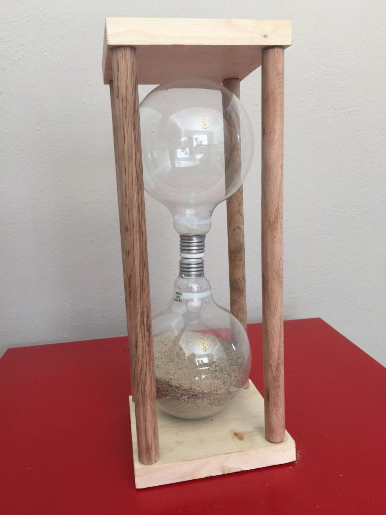 hourglass of light bulbs