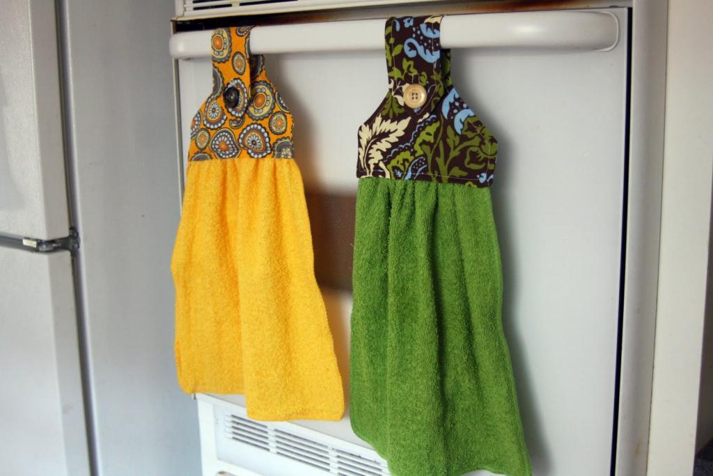 самодельные кухонные полотенца
