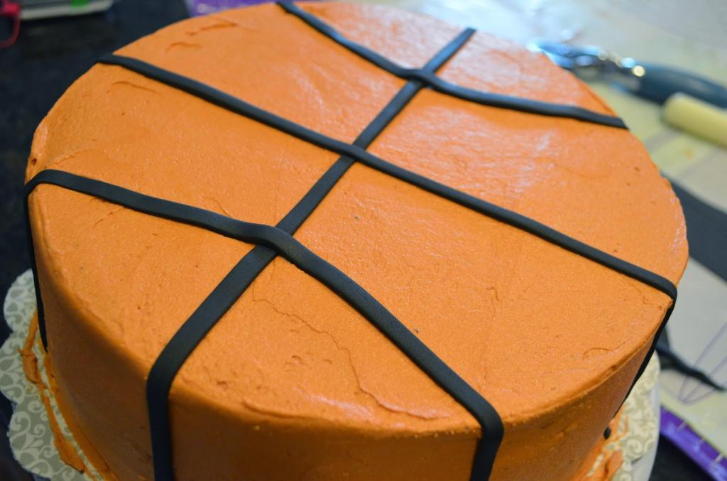 баскетбольный мяч торт