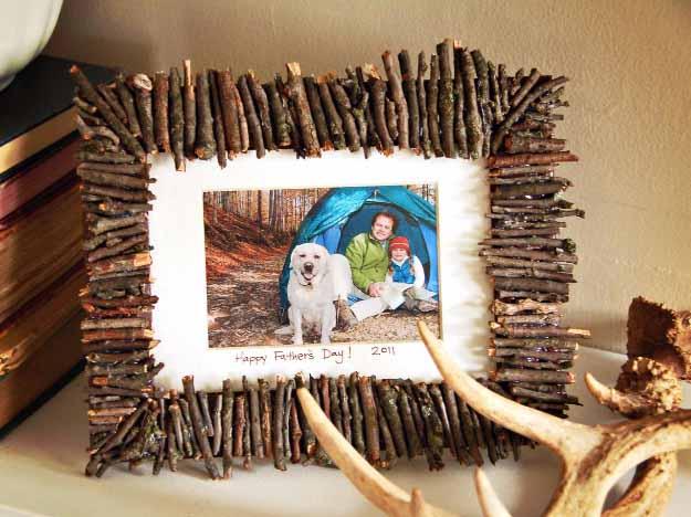 оригинальное декорирование деревянной рамки