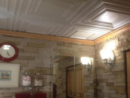 потолок в туалете фото