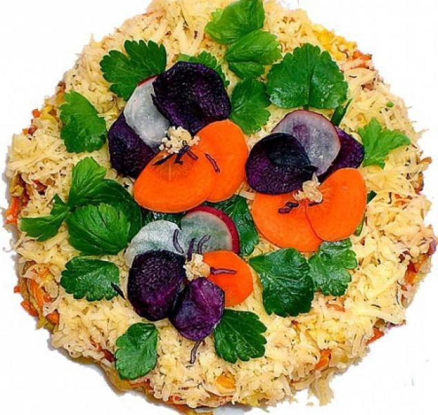 Украшение закусок и салатов пошагово