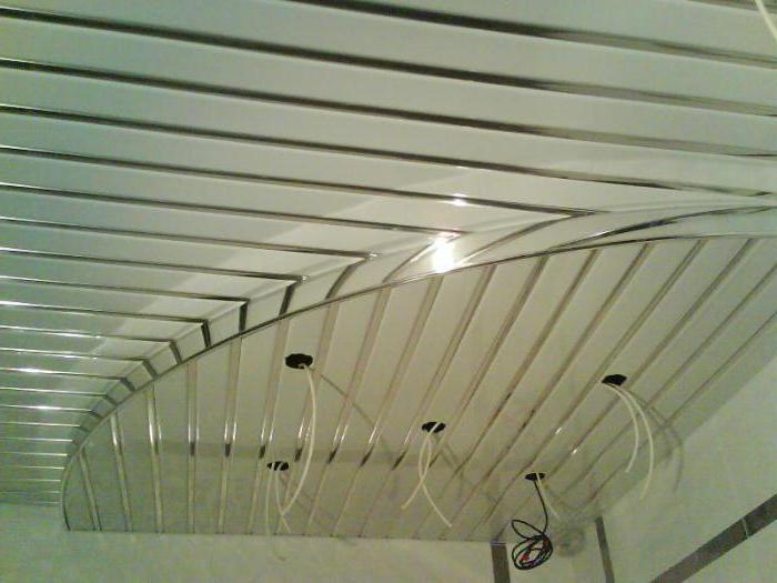 как установить светильники в реечный потолок