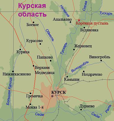 схема рек курской области