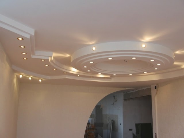 светильники в потолке