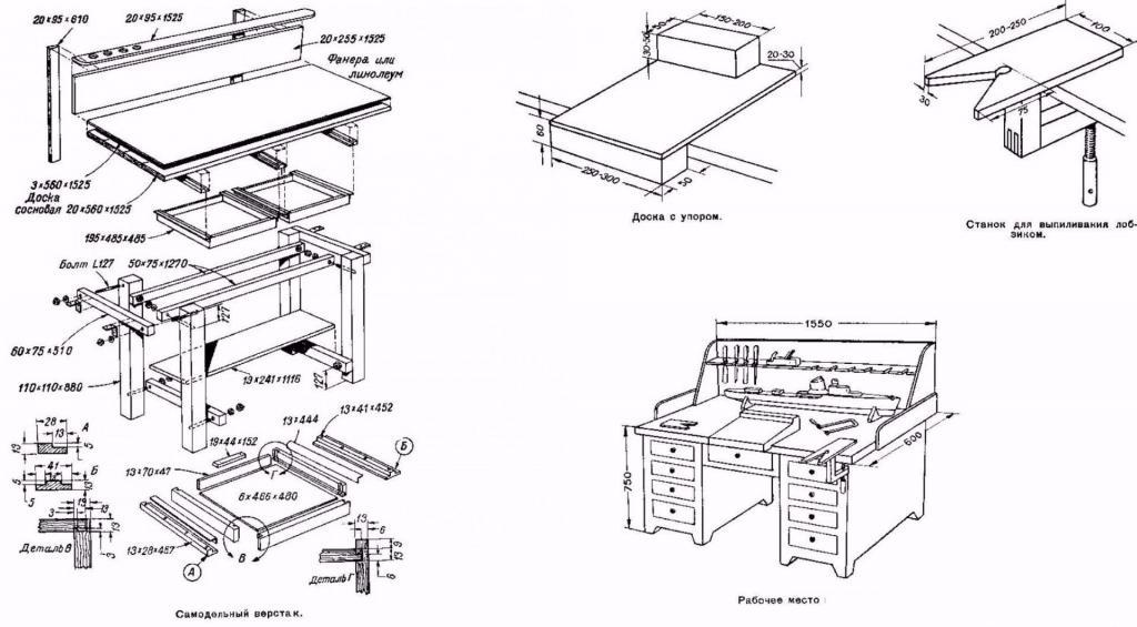 workbench drawing