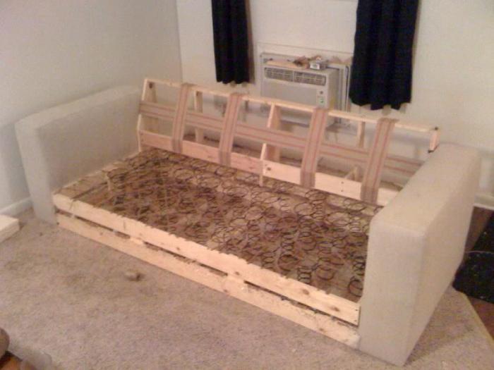 Обновить диван своими руками фото