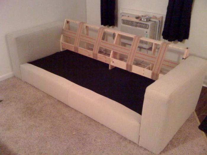 как правильно перетянуть диван