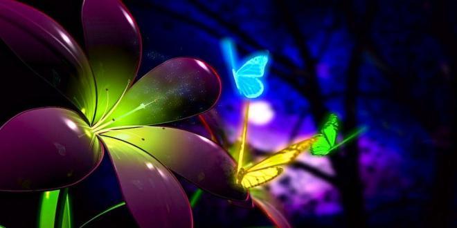 флуоресцентные обои