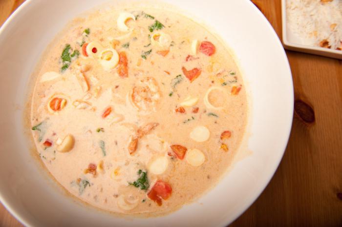 суп сливки морской коктейль