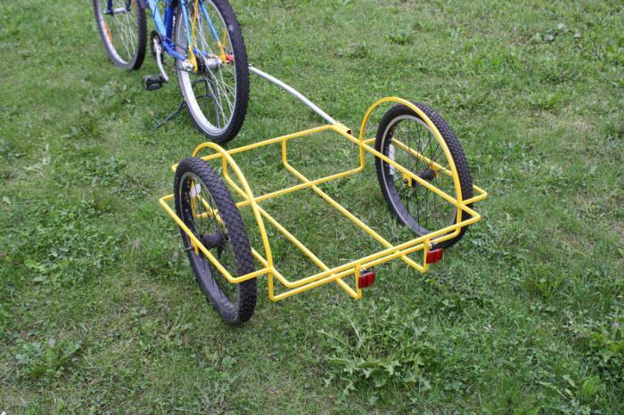 как сделать прицеп для велосипеда