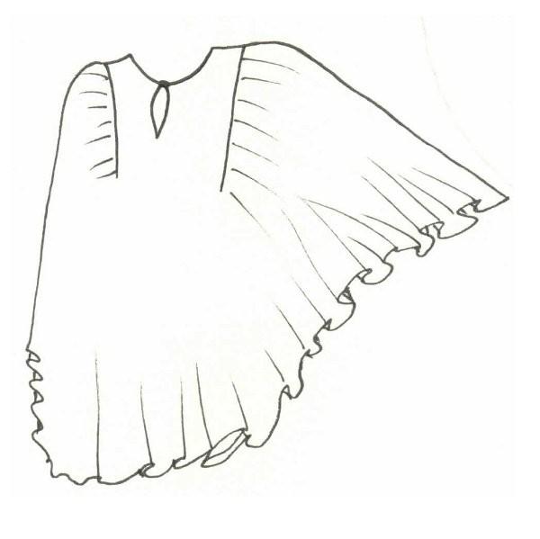 выкройка пляжного платья туники