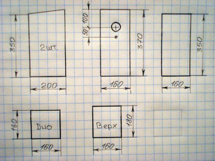как построить скворечник чертеж