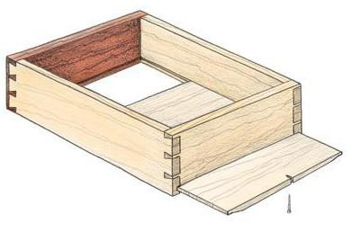 схема шкатулки из дерева