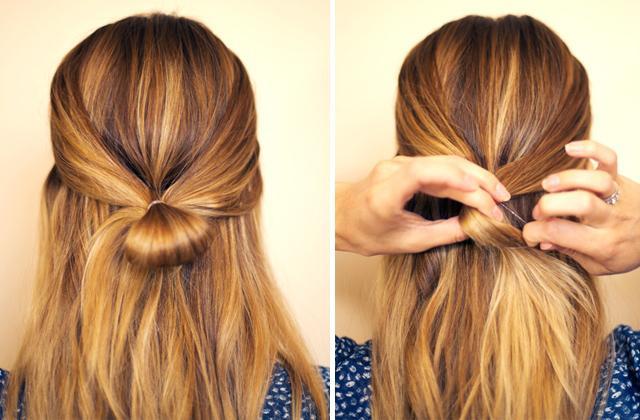 Как сделать причёску бант из волос