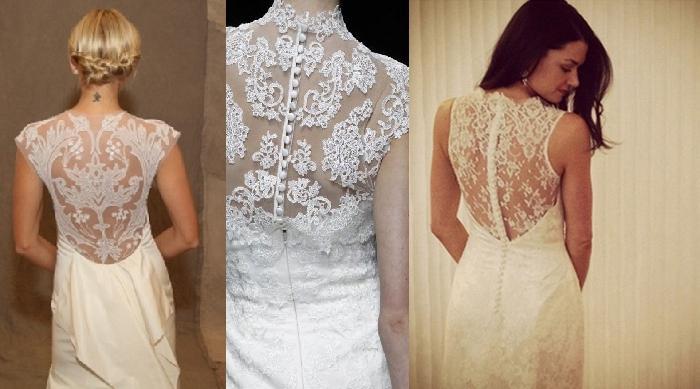 Свадебные платье кружевная спина