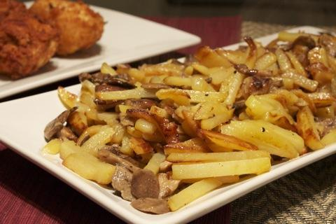 лисички жареные с картошкой рецепты
