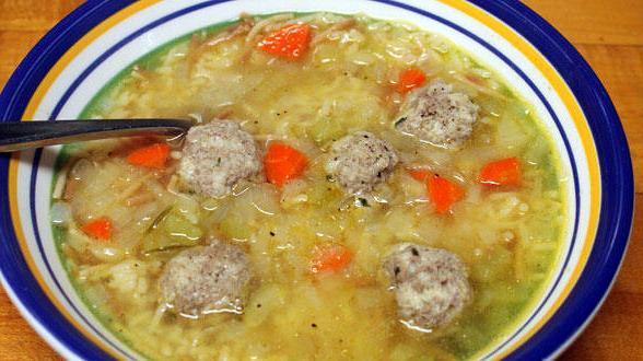 рецепт супа с фрикадельками из фарша говядины