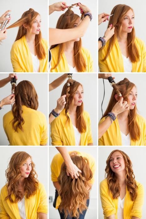 Как самой себе завить волосы плойкой