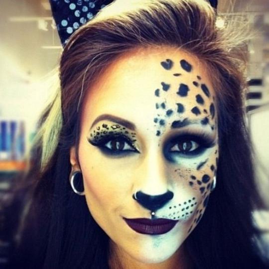 Хэллоуин макияж кошки для детей fb ru