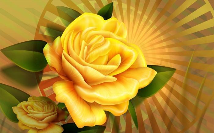 """Оригинал - Схема вышивки  """"Жолтая роза """" - Схемы вышивки - elena666 - Авторы - Портал  """"Вышивка крестом """" ."""