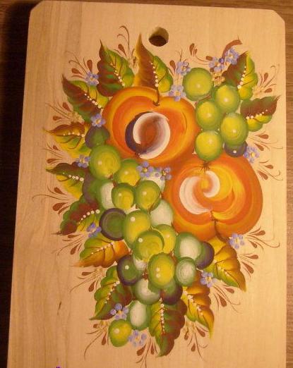 урало-сибирская роспись по дереву