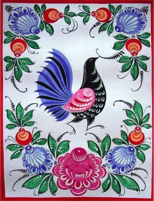 урало-сибирская роспись картинки