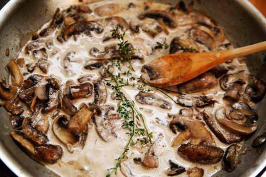 Белые грибы тушеныеы с фото