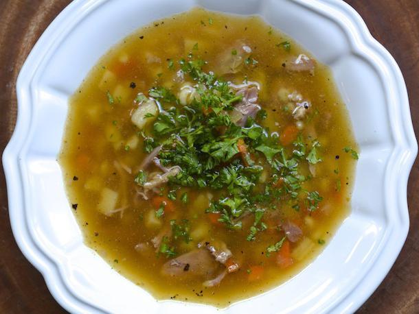 перловый суп с огурцами