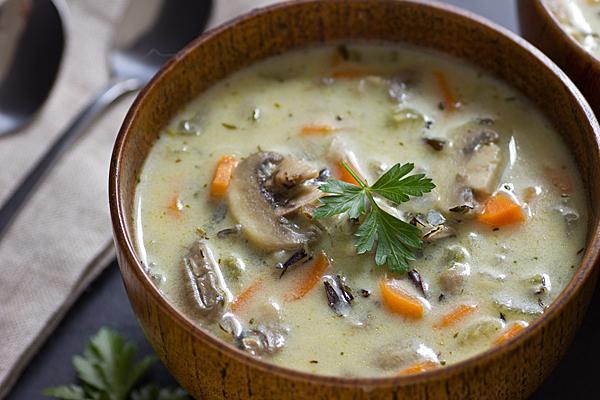 И рецепт грибного супа