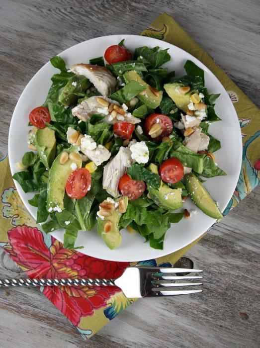 Салат с кедровыми орешками и курицей рецепт 62