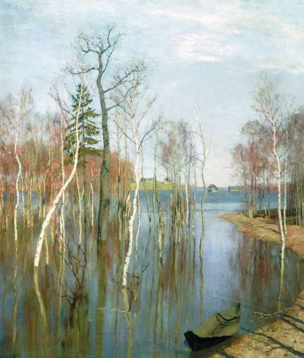 Русский весенний пейзаж картины