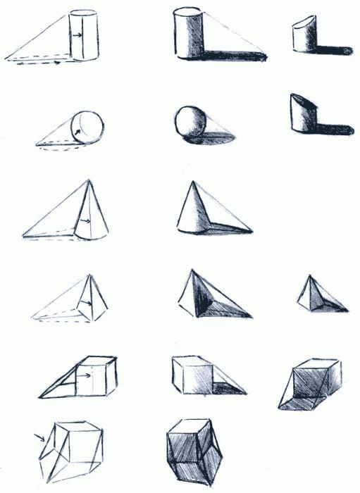 Геометрические рисунки как рисовать