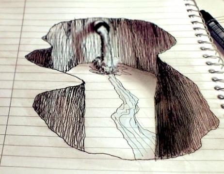 Как рисовать объемные на бумаге