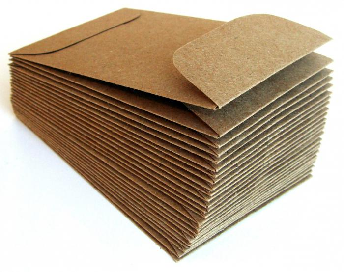 Конверты из крафт-бумаги