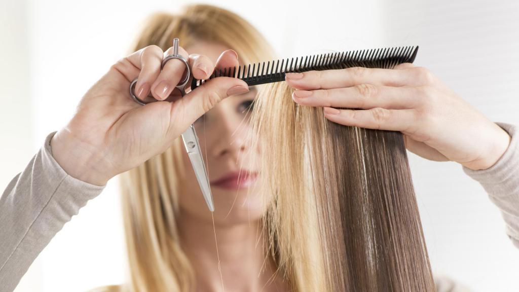 Филировка кончиков волос