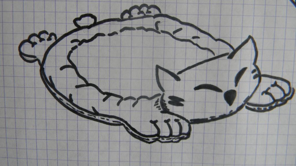 лежанка кошка