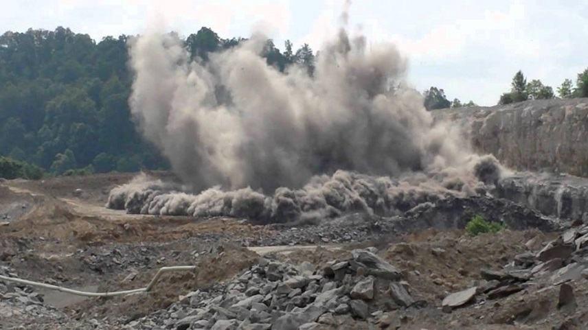 Explosion excavation