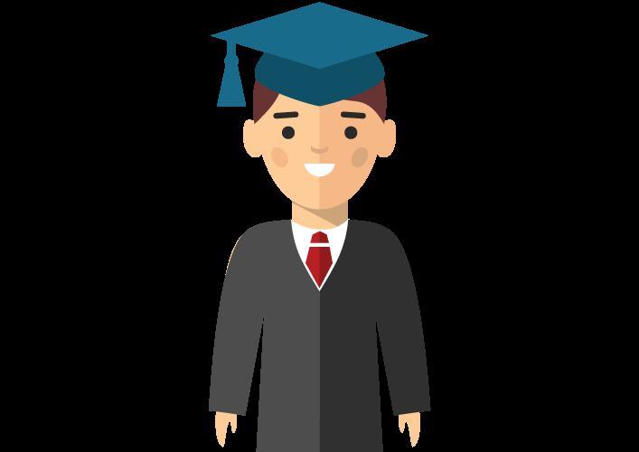 student in suit
