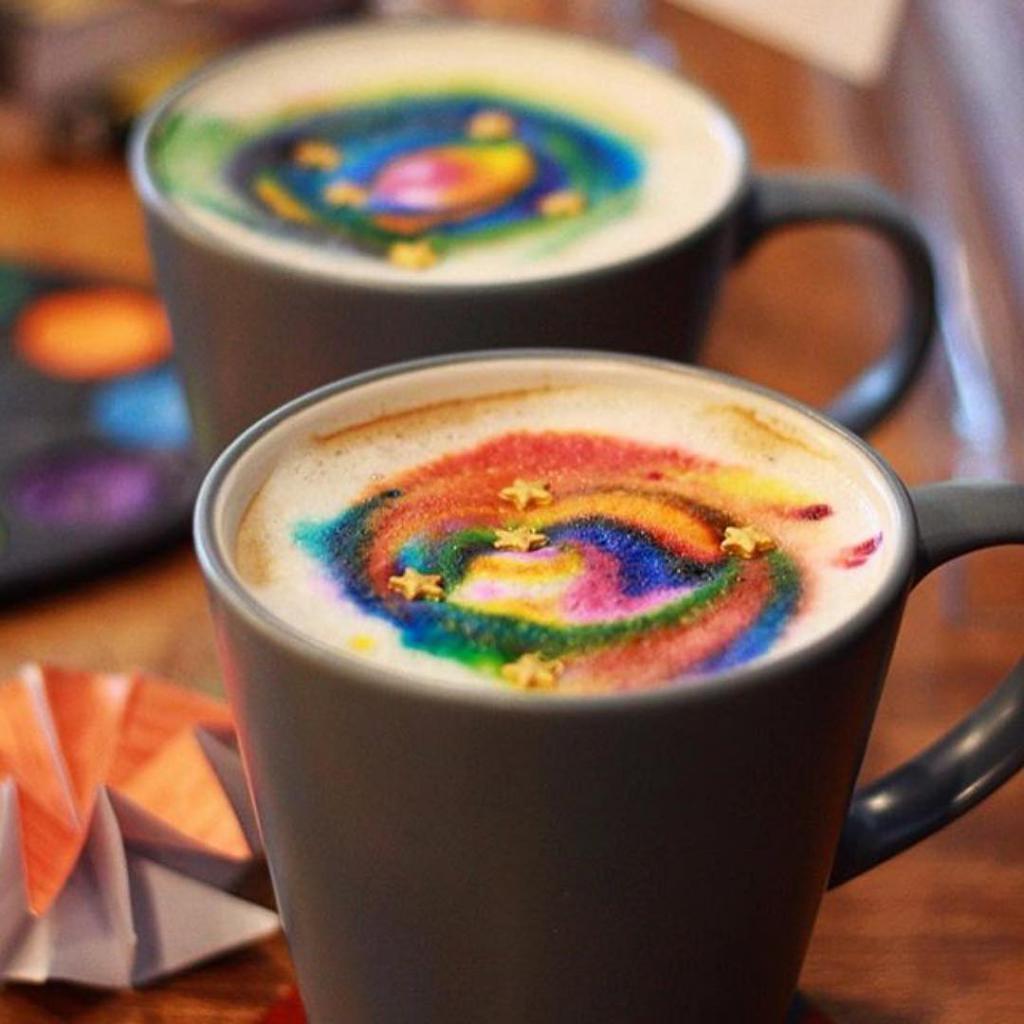 multi-colored coffee