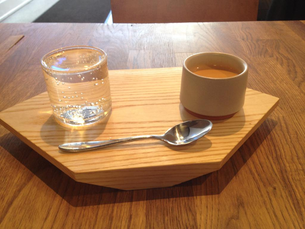 water with espresso