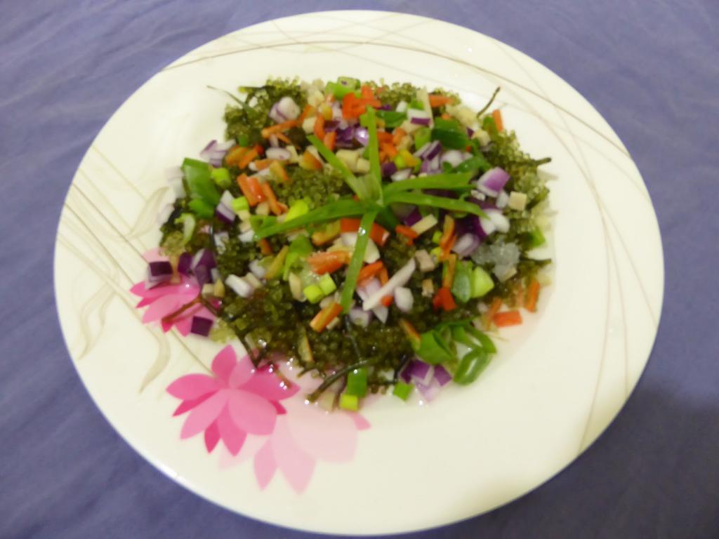 блюдо из водорослей